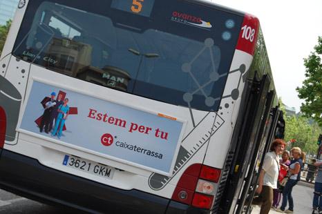 Publicidad autobus Caixa Terrassa