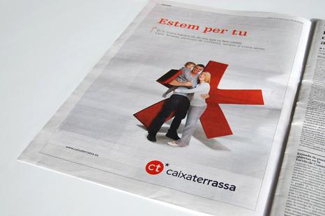 Publicidad prensa Caixa Terrassa