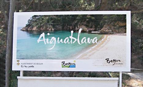 Vallas publicitarias playas de Begur