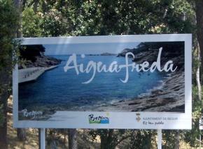 Valla publicitaria Aiguafreda Begur